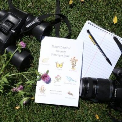 Nature Inspired Summer Scavenger Hunt