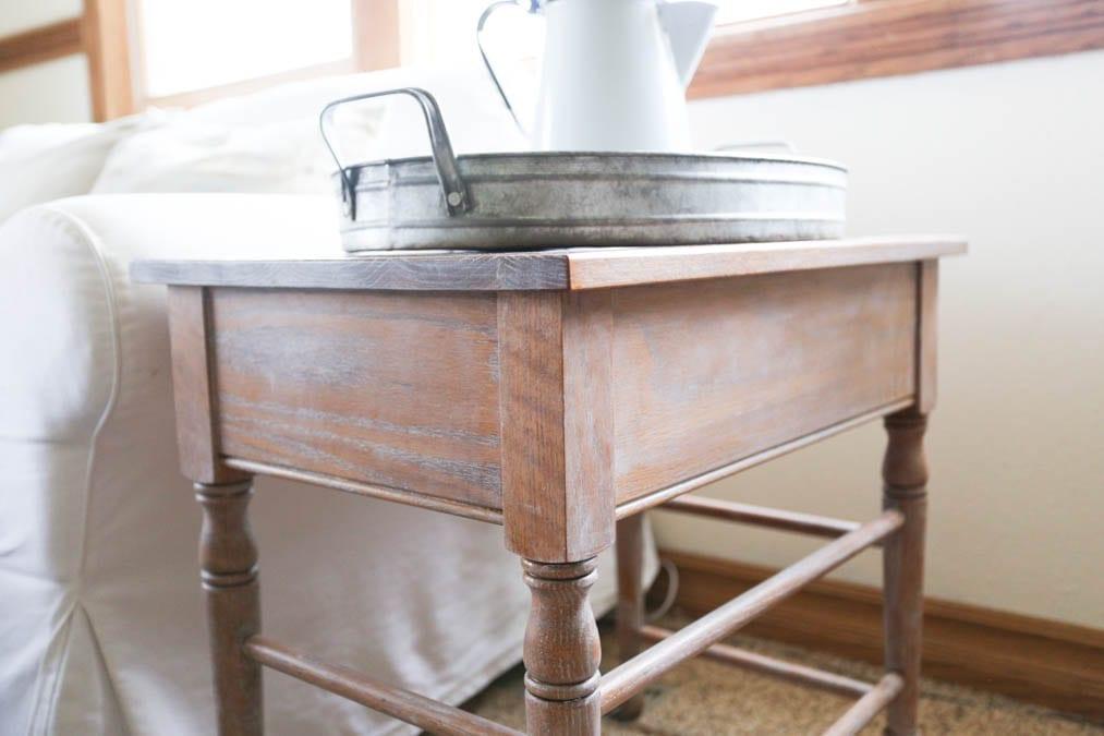 limed oak table
