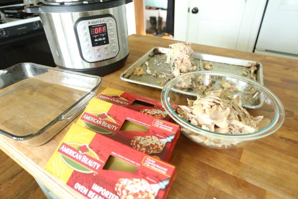 Ingredients for Chicken Zucchini Spinach Lasagna