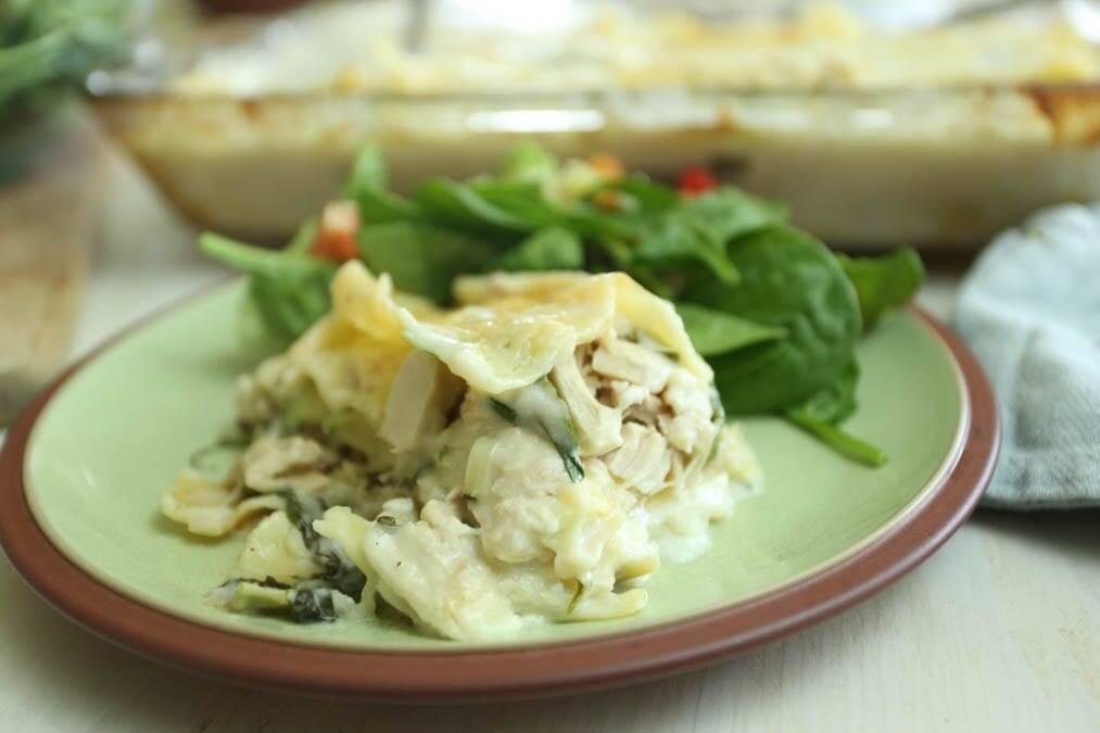 Chicken Spinach Zucchini Lasagna