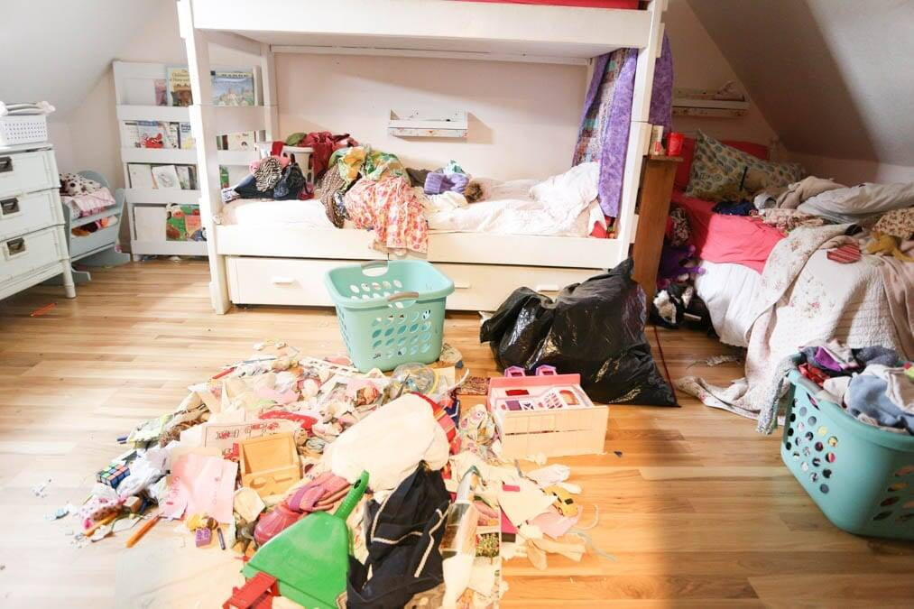 super messy kids room