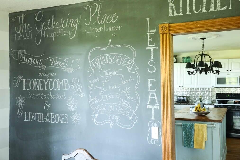 Chalkboard wall for your homeschool