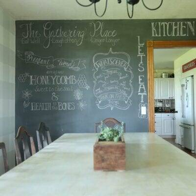 How to Make a Fun Chalkboard Wall for Your Homeschool