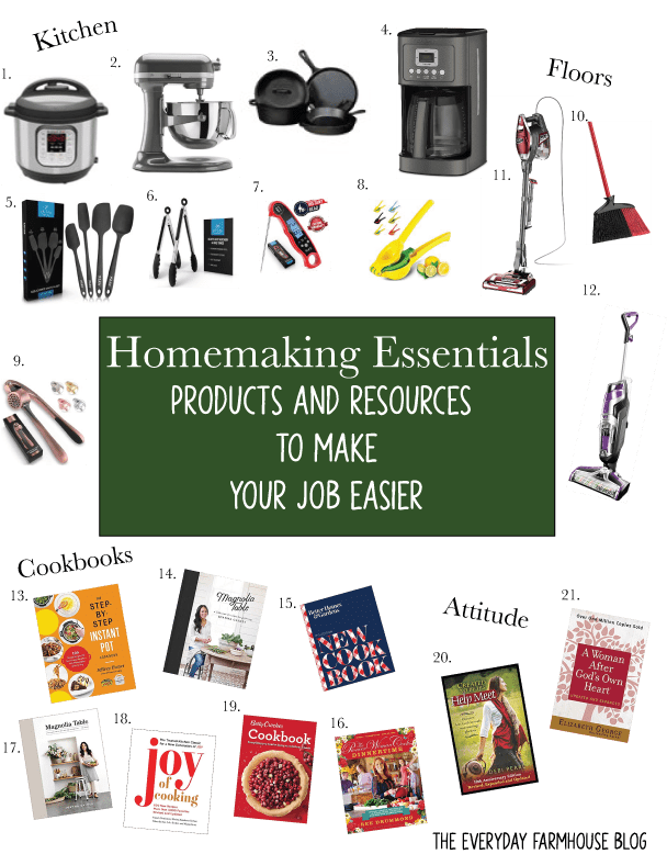 My Top 10 Homemaking Essentials–Part Four in the Homemaking Series