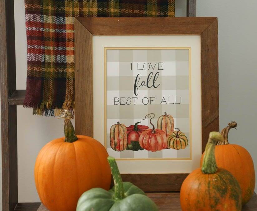 I love fall best of all