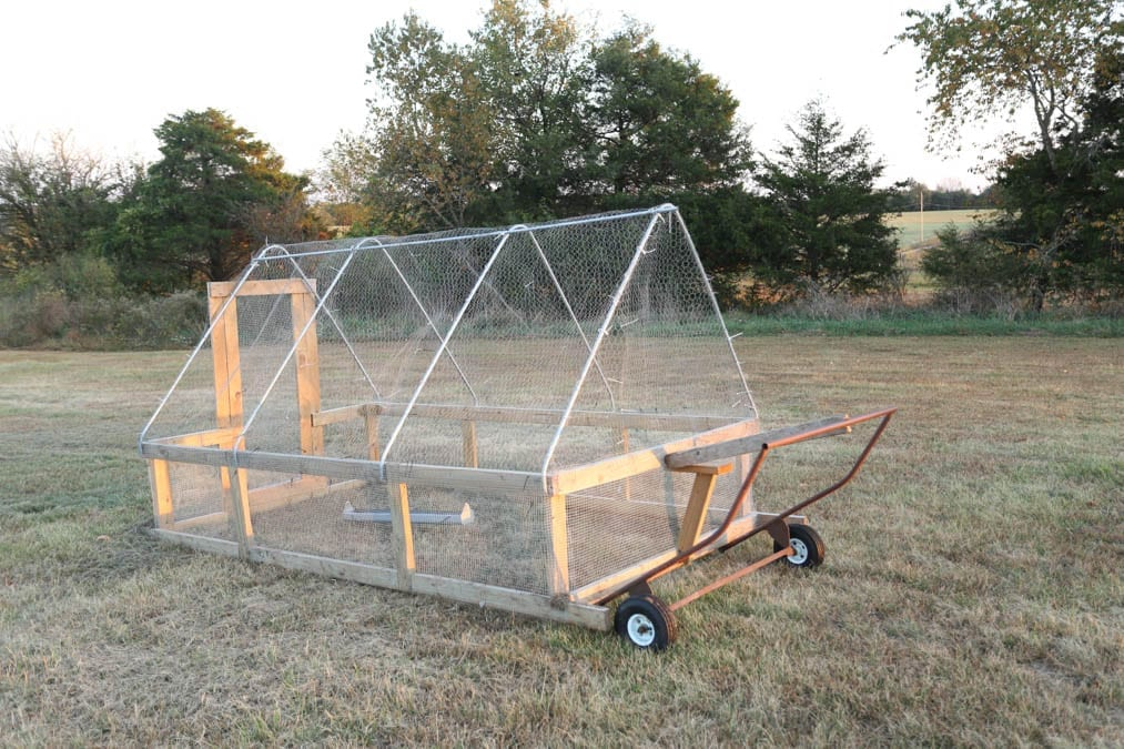 movable chicken pen