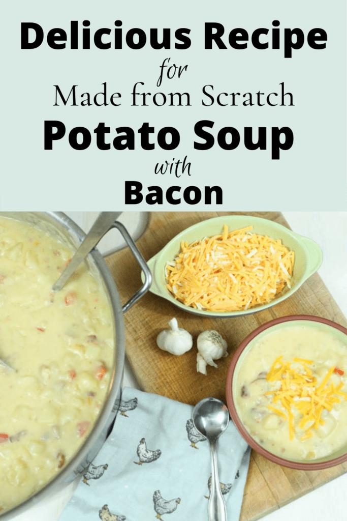 pin for homemade potato soup