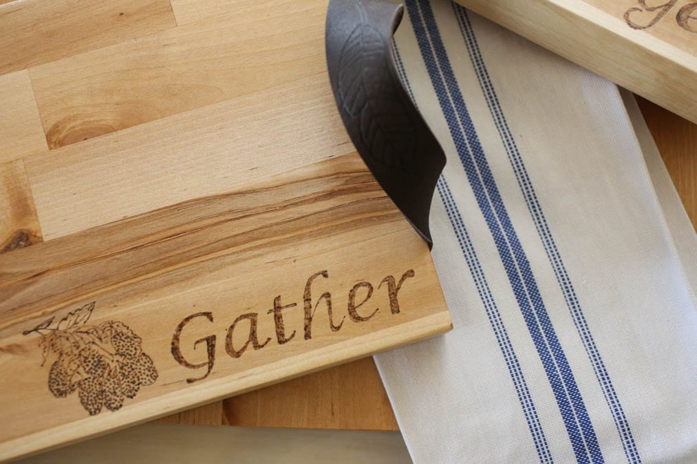 gather burned on a charcuterie