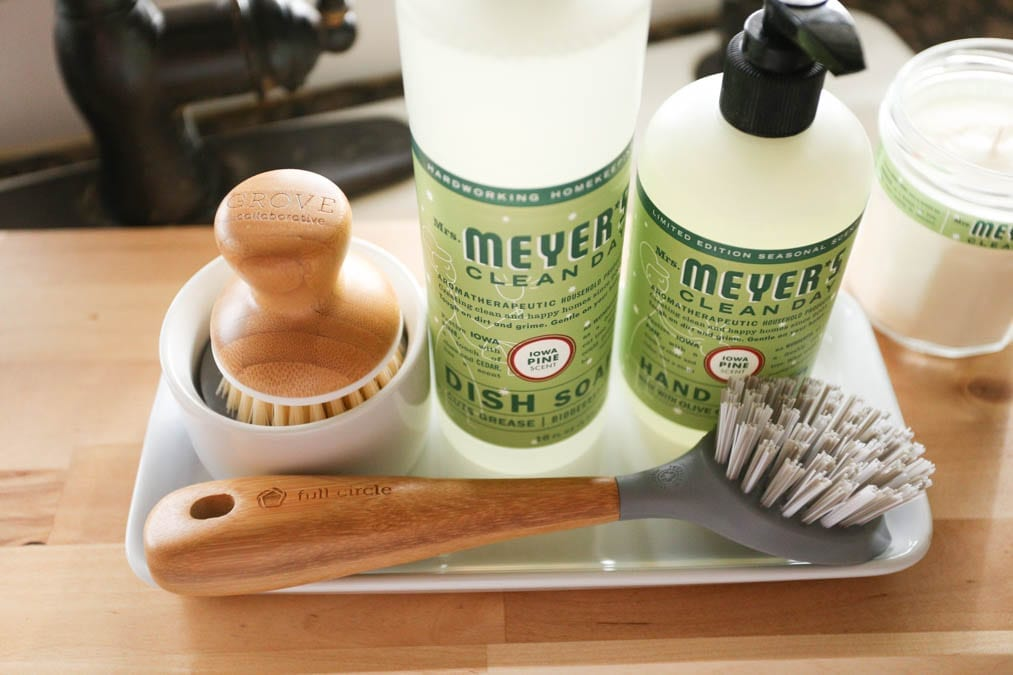 Mrs. Meyer's Cleaning set with scrub brush