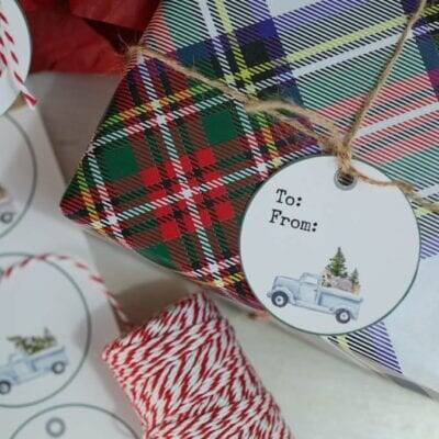 Free Printable Truck Christmas Tags & We Have an Etsy Printables Shop!