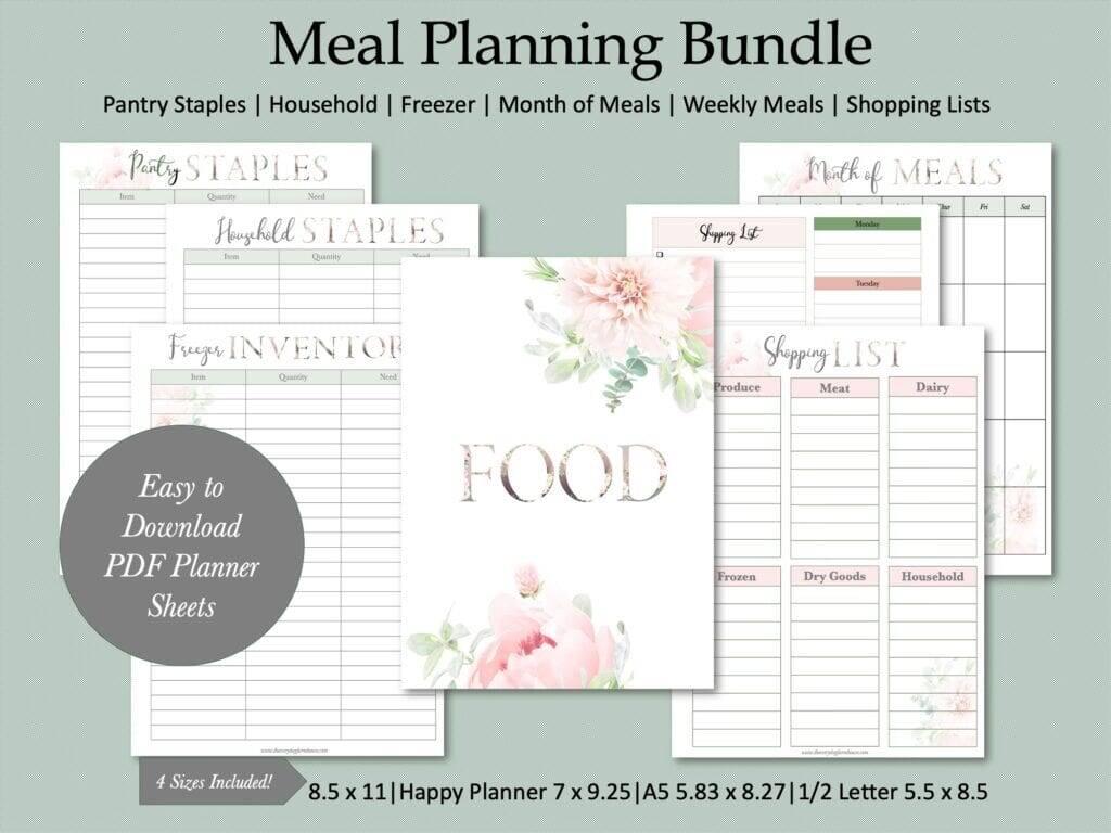 meal planning mockup