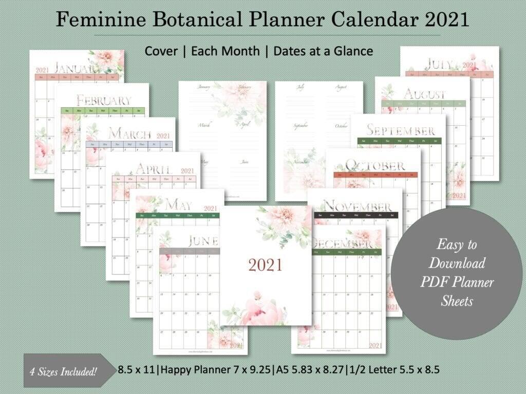 2021 planner calendar