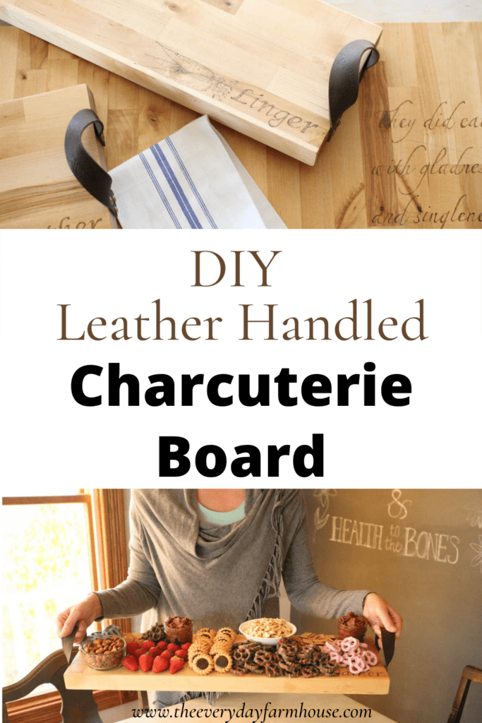 Leather Handled Charcuterie board