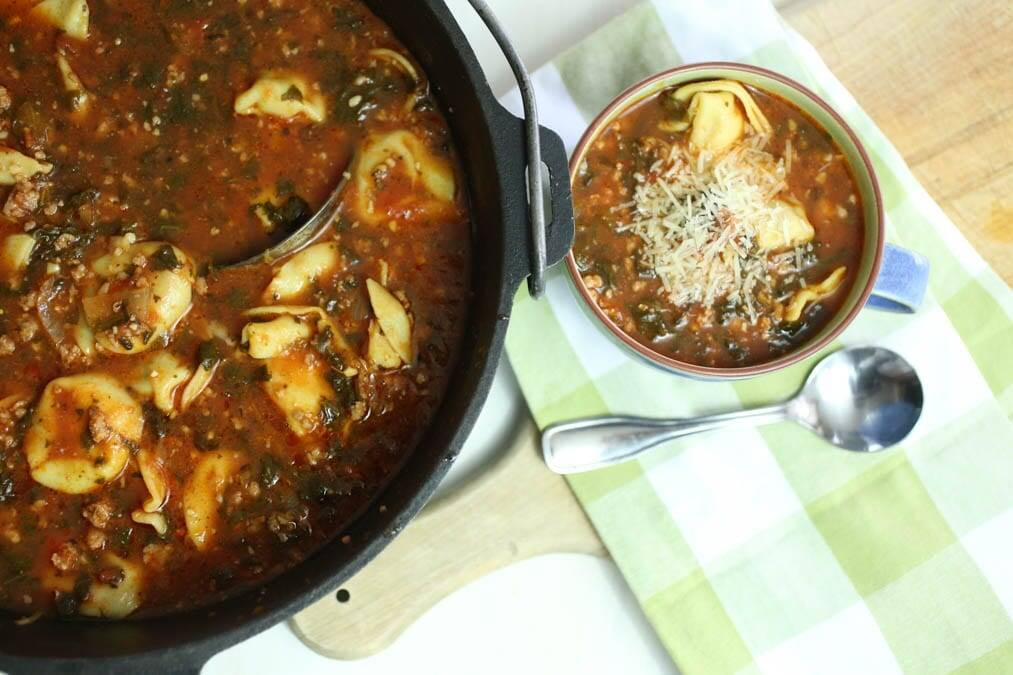 Large Pot Italian Tortellini Soup