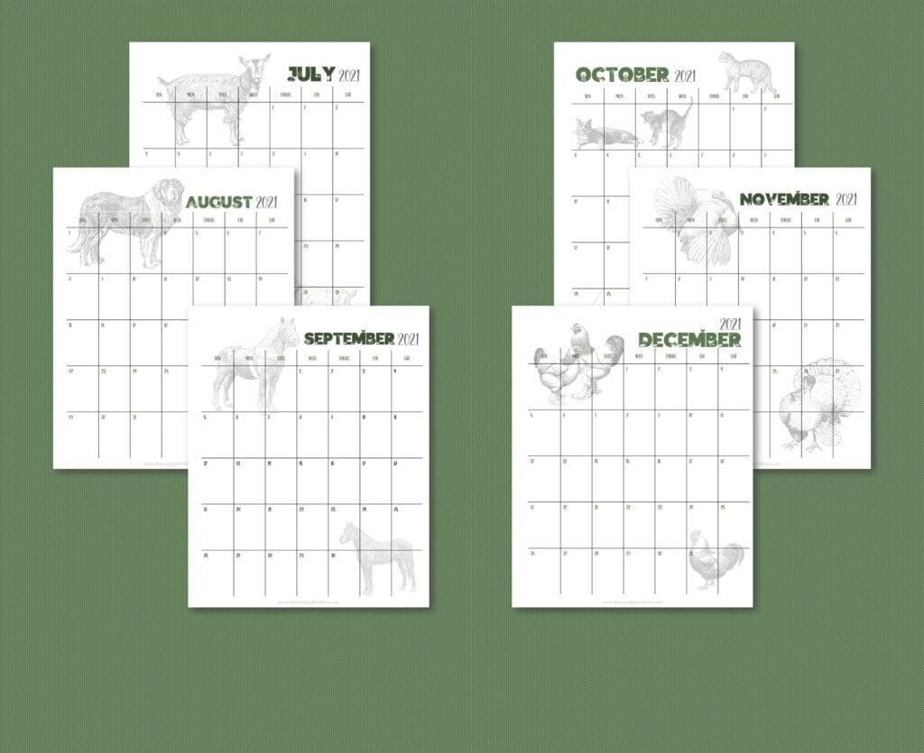 Homestead Calendar