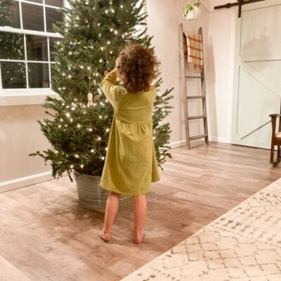 The Embracing Home and Family Link Party #19 & Our Christmas Tree in the Barn