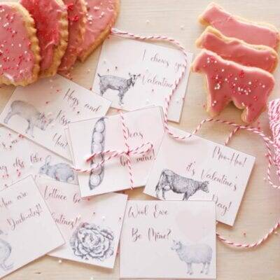Whole Wheat Sugar Cookies & Farm Valentines for You!
