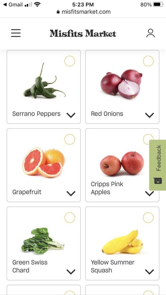 veggie choices