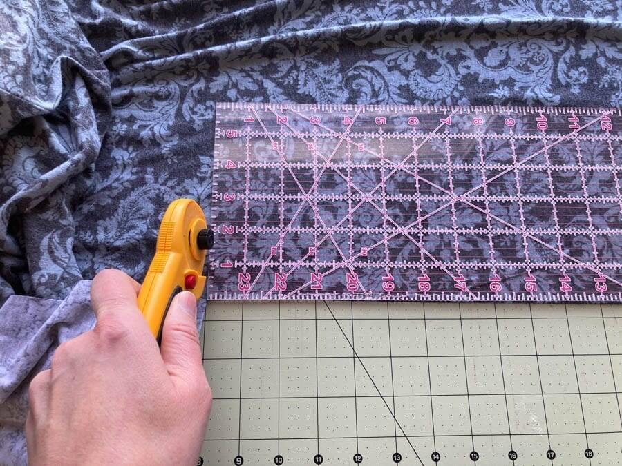 Cut fabric for headband