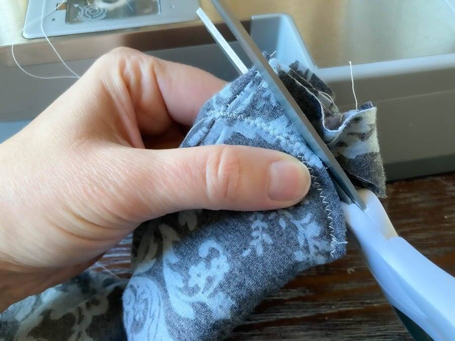 Cut excess fabric twist headband