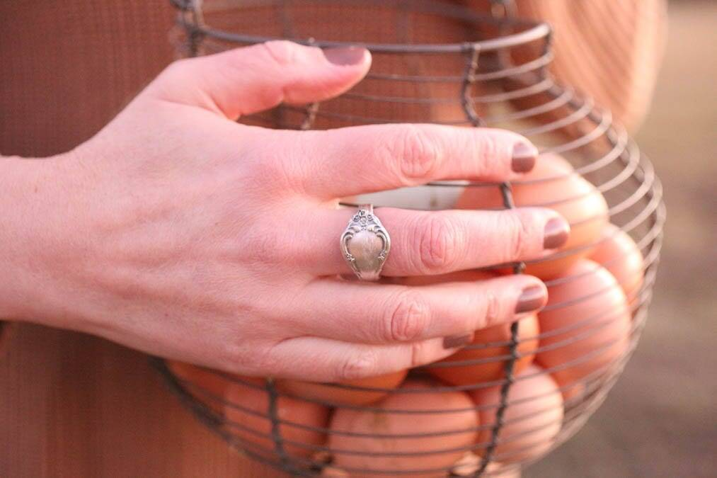 DIY Silver spoon ring