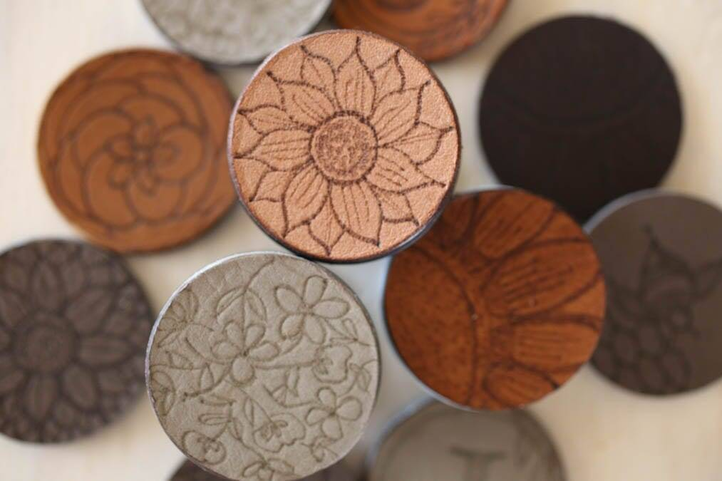 DIY leather popsocket covers