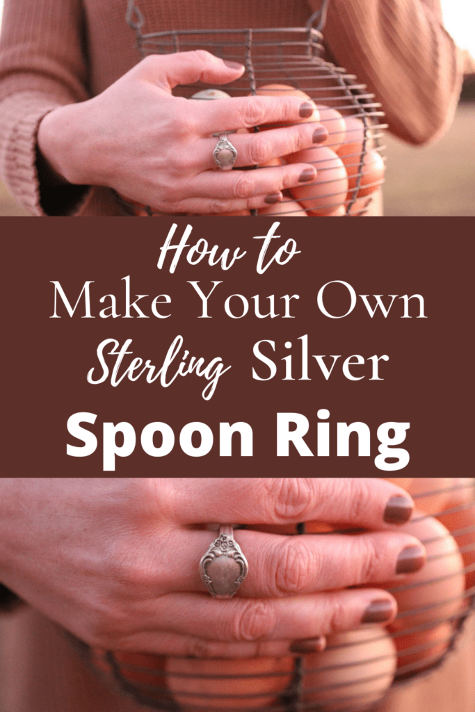 make your own sterling silver spoon ring