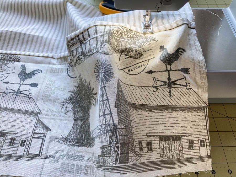 Sewing a garden apron