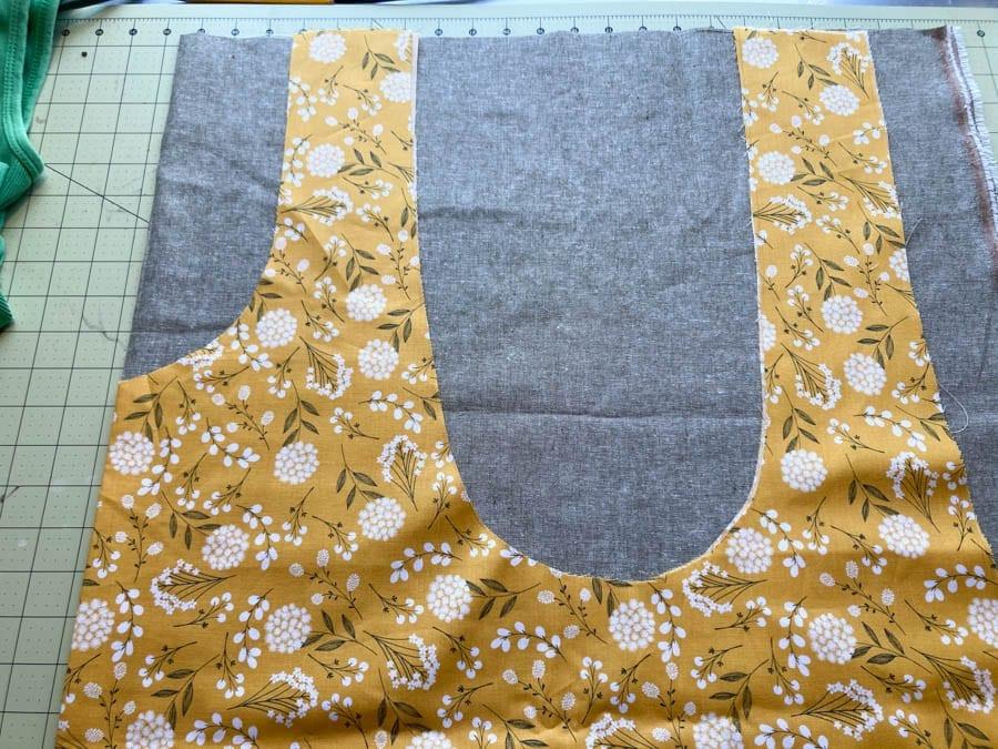 making a cross back apron pattern