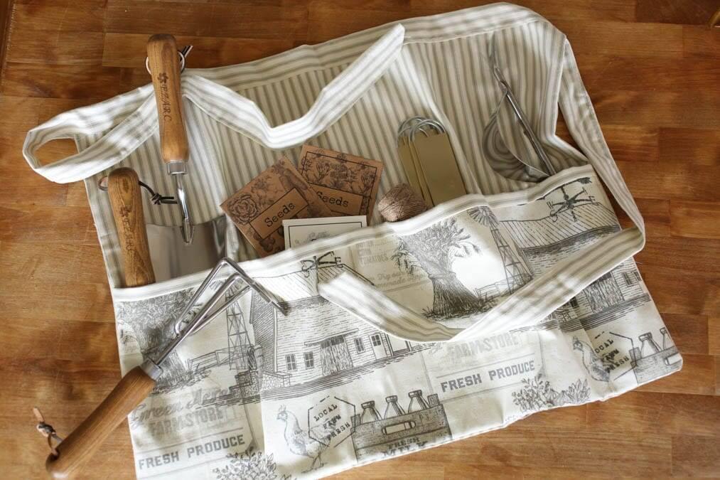handmade garden apron