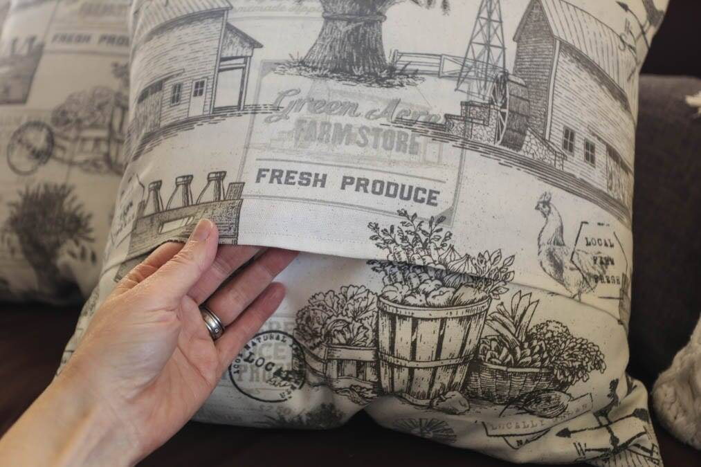 flap of envelope pillow cover