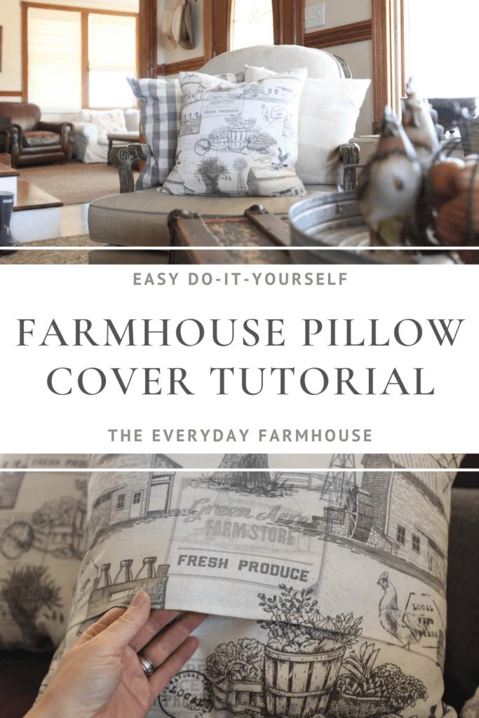 farmhouse pillow cover pin