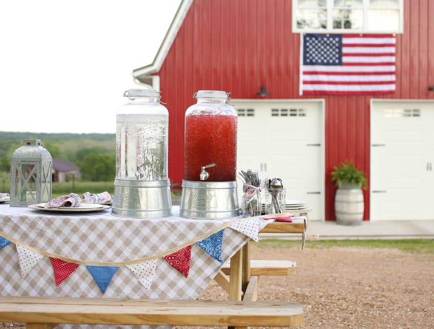 Red Barn American Flag