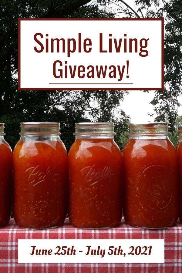 Simple Living Resources Giveaway