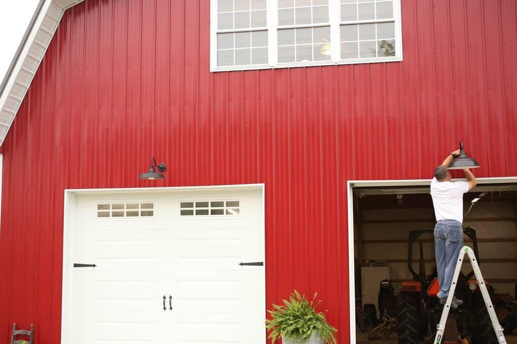 Installing new barn lights