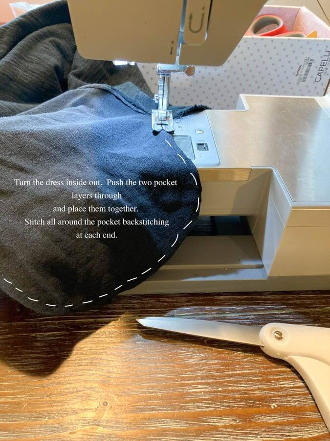 sewing pockets to dresses