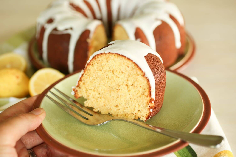 Healthy Lemon Bundt Cake from Scratch