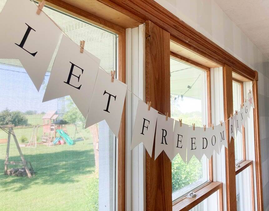 Let Freedom Ring Printable Banner