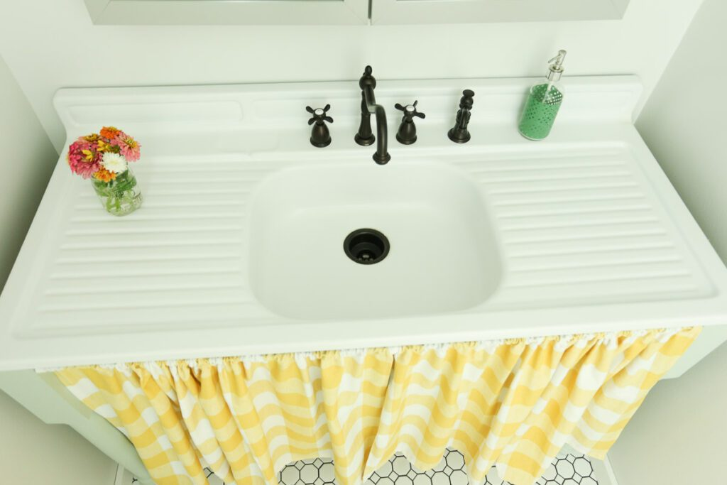 I am aware that this is a kitchen sink.  However, I had it on hand and it wouldn't work in our kitchen.